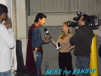 superman getting interviewed on televsion