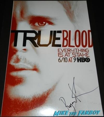 Ryan Kwanten signed autograph true blood season 5 mini poster individual signing autographs sexy extra universal jason stackhouse42