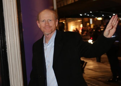Ron howard signing autographs for fans BAFTA pre award show party