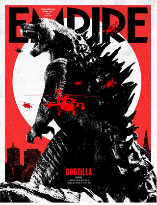 Empire Magazine Godzilla magazine cover march 2014