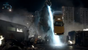 Snickers Godzilla commercial