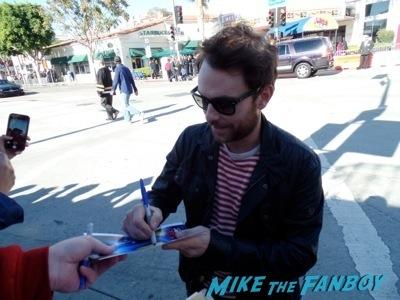charlie day signing autographs The LEgo Movie Premiere westwood CA chris pratt anna faris
