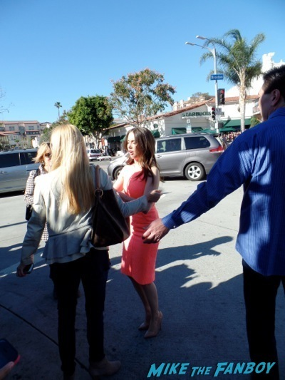 Alison Brie signing autographs The LEgo Movie Premiere westwood CA chris pratt anna faris