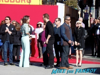 chris pratt anna faris signing autographs The LEgo Movie Premiere westwood CA chris pratt anna faris