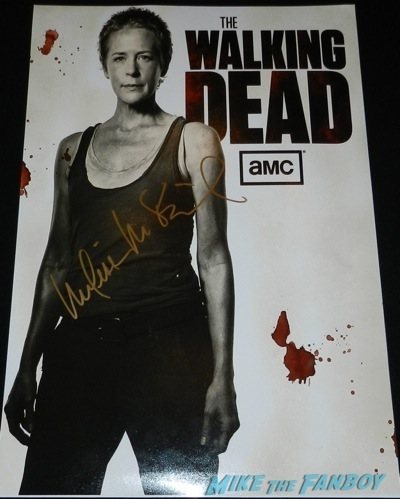 melissa mcbride signed autograph the walking dead mini poster The Walking Dead season 4 q and a television academy 116