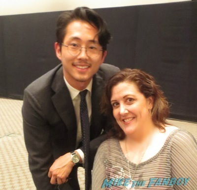 steven yuen fan photo The Walking Dead season 4 q and a television academy 12