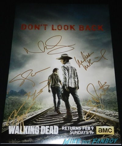 The Walking Dead season 4 signed autograph poster rare norman reedus q and a television academy 122