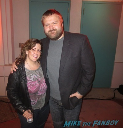 robert kirkman fan photo  signing autographs The Walking Dead season 4 q and a television academy 110
