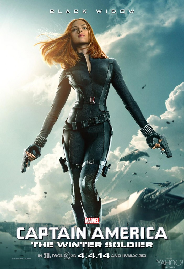 scarlett johansson black widow Captain America: The Winter Soldier chris evans individual promo poster