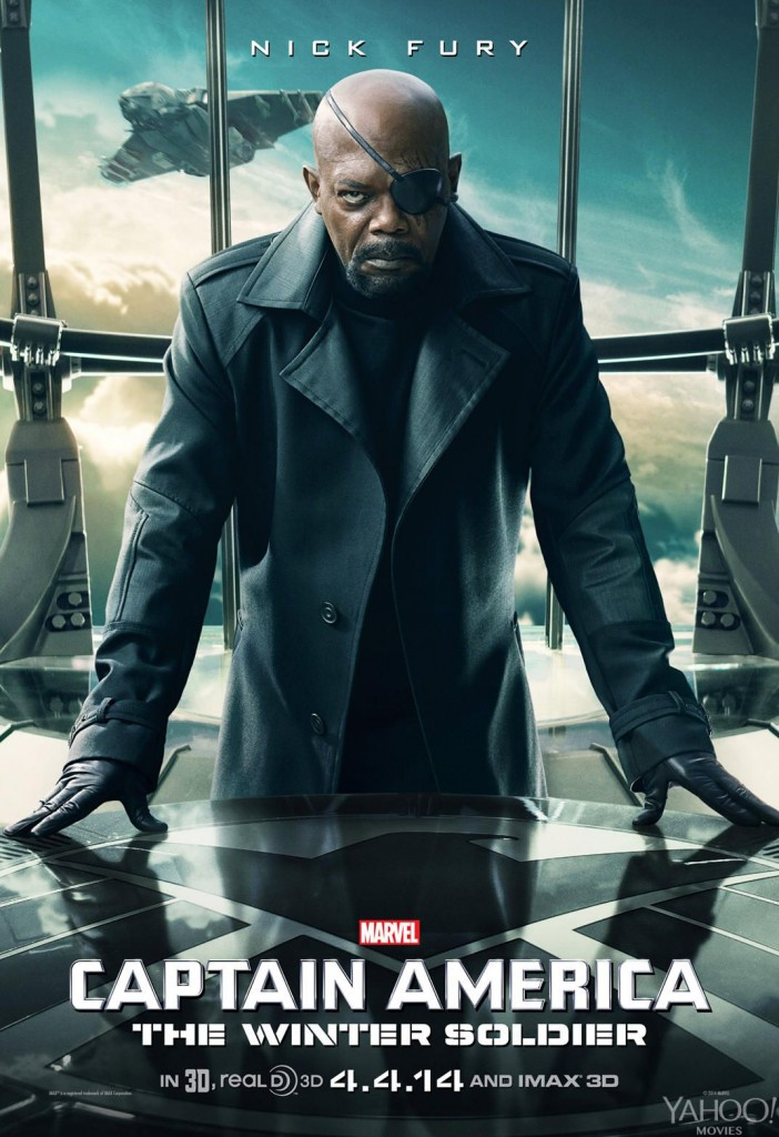 Samuel L. Jackson nick Fury Captain America: The Winter Soldier chris evans individual promo poster