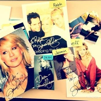 Jenna elfman  signing autographs fanmail