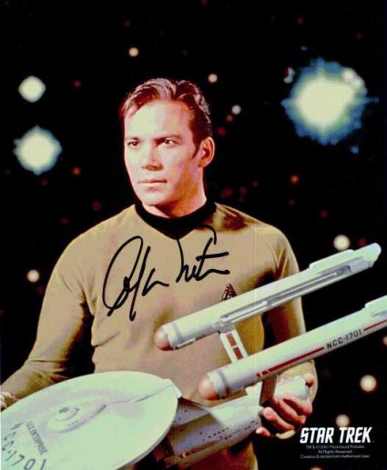 William Shatner signed autograph photo rare