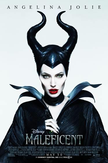 Maleficent movie poster angelina jolie rare hot promo disney