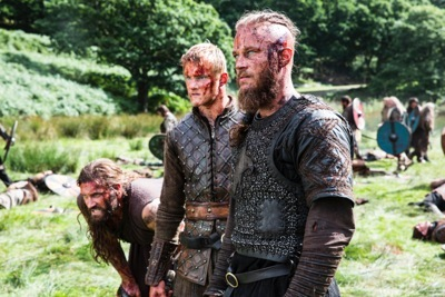 A family affair_ L to R Rollo (Clive Standen), Bjorn (Alexander Ludwig) and Ragnar (Travis Fimmel)