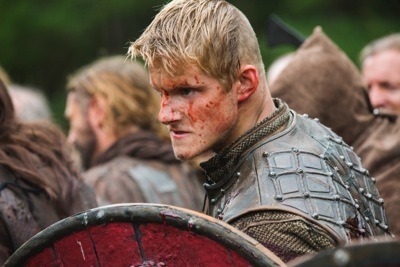 Bjorn is ready for battle (Alexander Ludwig)