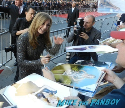 Emily VanCamp signing autographs Captain America: The Winter Soldier premiere red carpet23