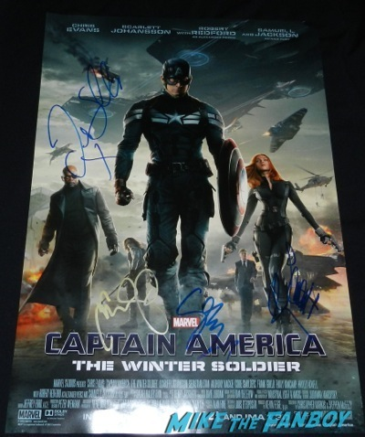 Captain America: The Winter Soldier signed autograph movie poster premiere red carpet45