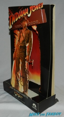 indiana jones and the temple of doom counter stand standee signed autograph Harrison Ford signing autographs 2014 indiana jones star 4