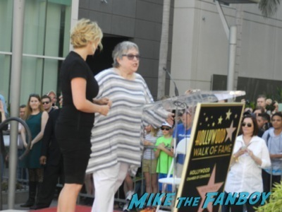 Kate Winslet Walk Of Fame Star Ceremony signing autographs rare kathy bates speech18