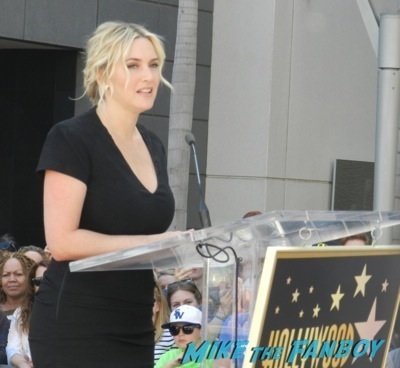 Kate Winslet Walk Of Fame Star Ceremony signing autographs rare kathy bates speech36
