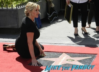 Kate Winslet Walk Of Fame Star Ceremony signing autographs rare kathy bates speech69