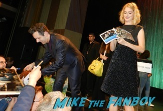 signing autographs Masters of Sex Paleyfest 2014 panel lizzy caplan Michael Sheen 44