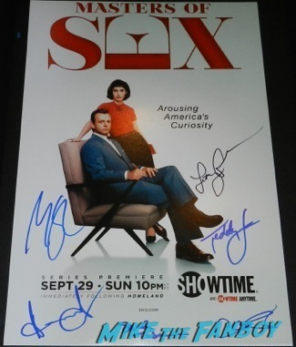 Masters of Sex signed autograph poster season 1 Paleyfest 2014 panel lizzy caplan Michael Sheen 94