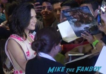 Jennifer connelly signing autographs Noah mexico movie premiere logan lerman signing autographs red carpet douglas booth9