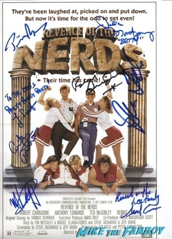 revenge of the nerds signed autograph movie poster Revenge of the nerds reunion SF Sketchfest timothy Busfield19
