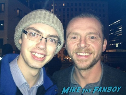 SImon Pegg fan photo man up set rare 1