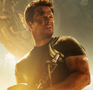 Mark Wahlberg Transformers: Age of Extinction character poster rare muscle bicep