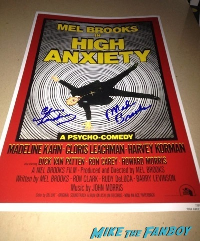 cloris leachman signed high anxiety mini poster signed signing autographs now 2014 raising hope star3