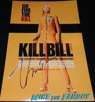 uma thurman signed kill bill poster autograph hot rare