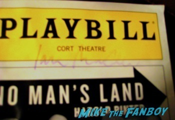 ian mckellen signed autograph playbill rare meeting ian McKellen on broadway in New York no man's land10