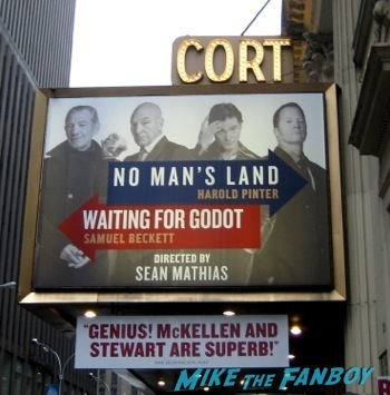 cort theater no man's land meeting ian McKellen on broadway in New York no man's land7