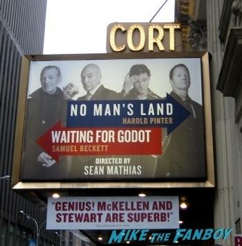 cort theater no man's land meeting ian McKellen on broadway in New York no man's land7