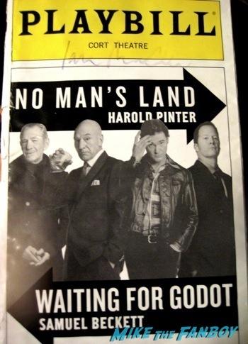 ian mckellen signed autograph playbill rare meeting ian McKellen on broadway in New York no man's land10