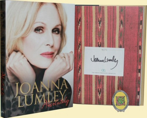 joanna lumley signed autograph book rare