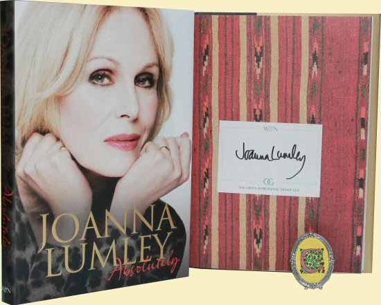 joanna lumley signed autograph book rare