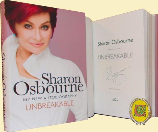 sharon osbourne signed book