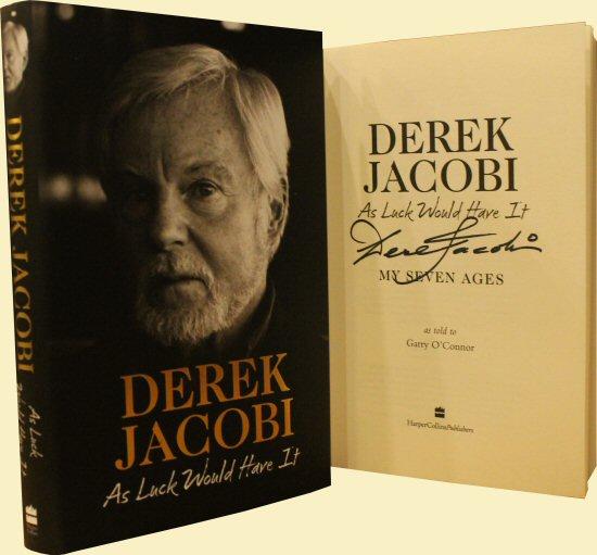 Derek Jacobi signed autograph book rare