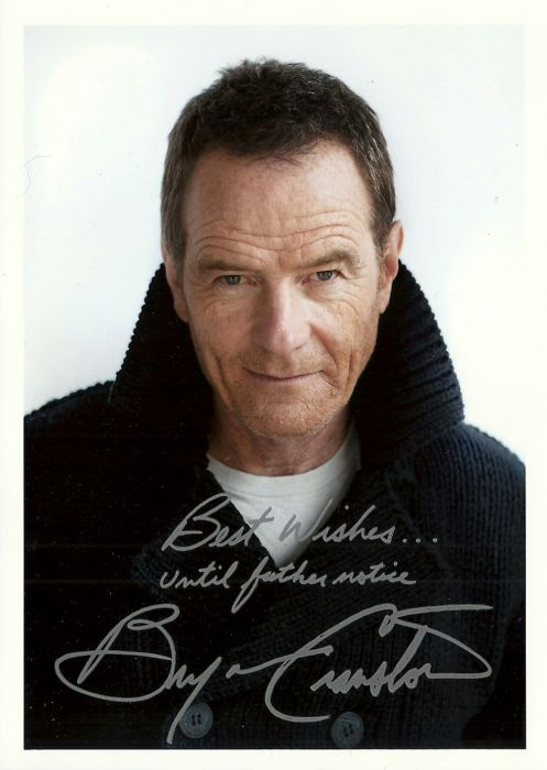 bryan cranston studio fanmail photo