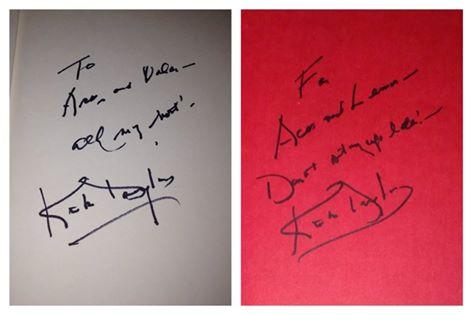 kirk douglas signed autograph books