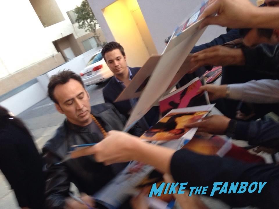 Nicolas Cage Signing Autographs