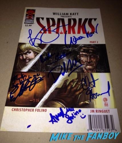Sparks Comic Signing William Katt Clint Howard Ashley Bell