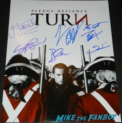 jamie bell signed turn poster rare AMC's turn emmy event jamie bell signing autographs fan photo12