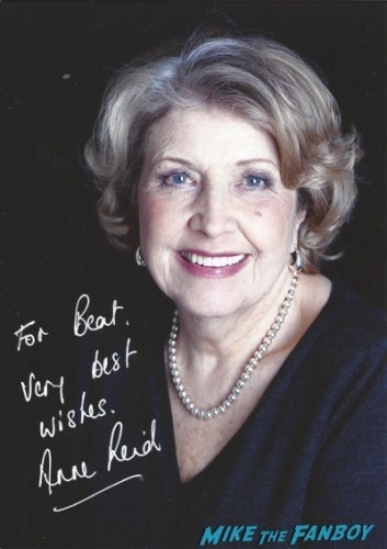 Anne Reid signed autograph photo rare