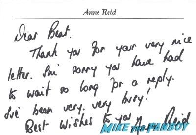 Anne Reid signed autograph photo rare