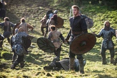 Bjorn Ironside (ALEXANDER LUDWIG) in battle
