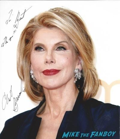 Christine Baranski (2) signed autograph photo
